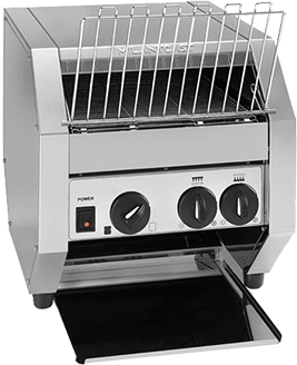 Conveyor toaster for hotels