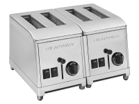 Classical slice toaster model with 4 ovens