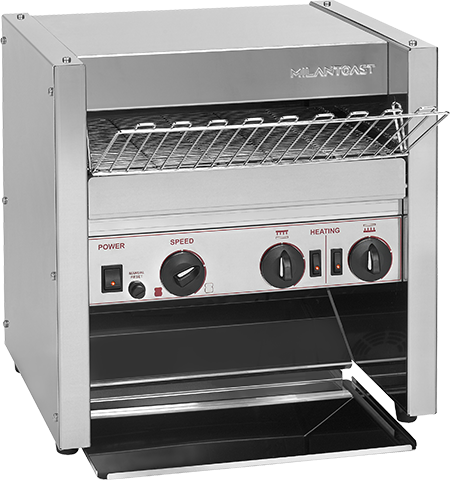 Conveyor toaster for fast foods