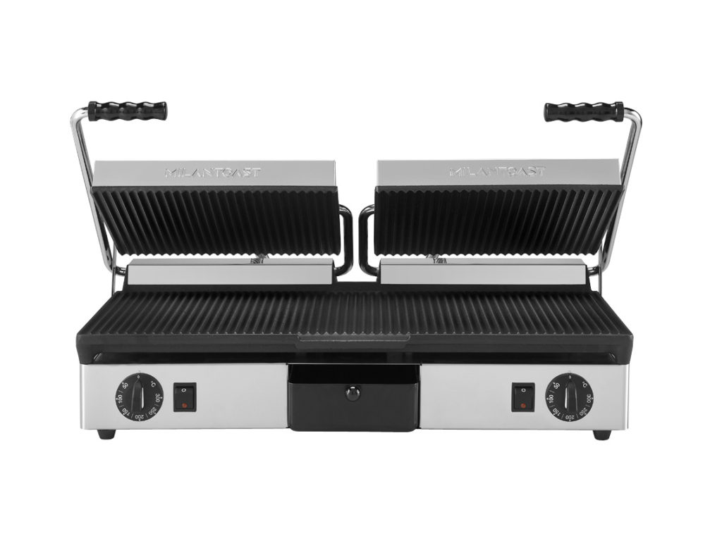 Professional cast iron contact grills - Milantoast